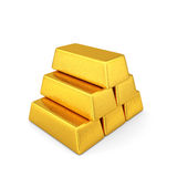 Golden bars pyramid Stock Image