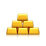 Golden bars pyramid Royalty Free Stock Photography
