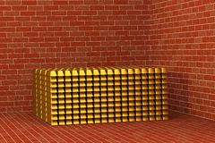 Golden bars in a vault Stock Image