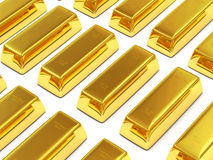 Golden Bars on white background Stock Image