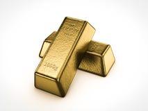 Golden bars Stock Image