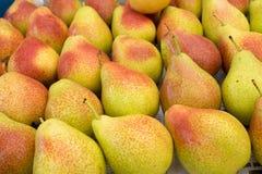 Golden Bartlett Pear for sale at city market. Baku. Azerbaijan royalty free stock photography