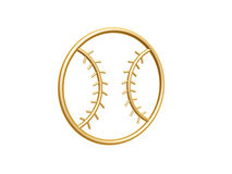 Golden baseball symbol Royalty Free Stock Photos