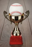 Golden baseball trophy cup Royalty Free Stock Photo