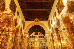 Golden Basilica Church Iglesia of Santa Anna Granada Spain Royalty Free Stock Photos