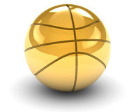 Golden Basket Ball Stock Image