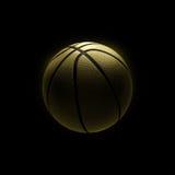 Golden basketball on black background Royalty Free Stock Photo