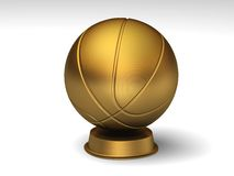 Golden basketball trophy. Closeup on a golden basketball trophy royalty free illustration