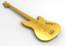 Golden bass guitar Royalty Free Stock Image