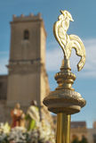 Golden baton. Easter procession in Elche, Alicante, Valencia. Sp Stock Photo