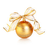 Golden bauble Stock Image