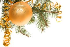 Golden bauble Stock Image