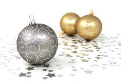 Golden Baubles Stock Images