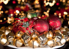 Golden baubles Royalty Free Stock Photography