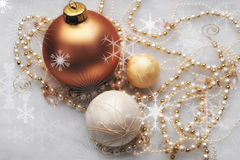 Free Golden Baubles Royalty Free Stock Photo - 17077125