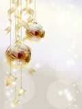 Golden baubles Royalty Free Stock Photo