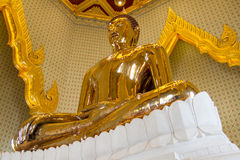 Golden Bauddha sculpture Royalty Free Stock Images