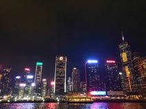 香港-维多利亚港夜景 -无与伦比的魅力 Hong Kong - Victoria Harbour Nightscape - Unmatched Charm royalty free stock photo