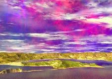 Golden Bay. Computer gemerate image Vector Illustration