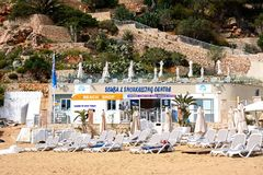 Golden Bay beach, Malta. Stock Photo