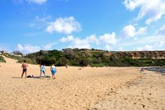 Golden Bay beach, Malta. Royalty Free Stock Photography