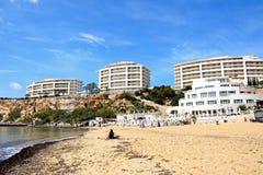 Golden Bay beach, Malta. Royalty Free Stock Images