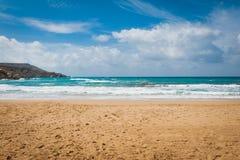 Golden Bay In Malta Stock Image