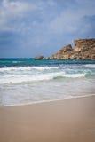 Golden Bay In Malta Royalty Free Stock Image