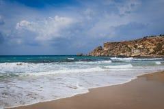 Golden Bay in Malta Stock Photos