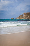 Golden Bay in Malta Royalty Free Stock Image