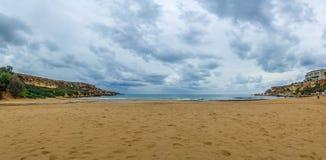 Golden Bay in Malta. Royalty Free Stock Photo