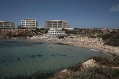 Golden bay in Malta stock photo