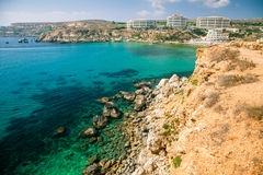 Golden bay, Malta Stock Photos