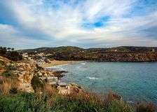 Golden bay, Mellieha, west of Malta, Europe. Golden bay, Mellieha, west of Malta royalty free stock photography