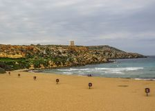 Golden bay, Mellieha, west of Malta, Europe. Golden bay, Mellieha, west of Malta stock image