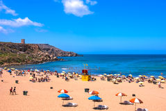 Malta, Sandy beach Royalty Free Stock Image