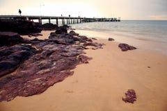 Golden Beach. Sunset view on beach, Melbourne, Victoria, Australia royalty free stock photos