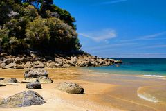 Golden beach abel tasman Royalty Free Stock Photography
