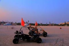 Golden beach in Beihei city,Guangxi,China Royalty Free Stock Image