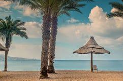 Golden beach in Eilat Stock Photography