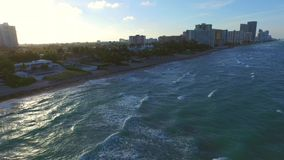 Golden Beach Florida aerial footage stock video footage