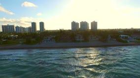 Golden Beach Florida aerial footage 2. Aerial video of Golden Beach Florida stock video