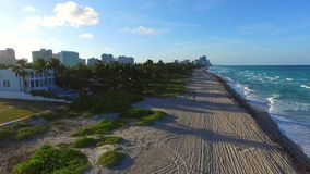 Golden Beach Florida aerial footage 6 stock footage