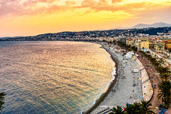 Golden Beach of Nice, France Stock Image