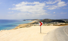 Golden beach of Northern Cyprus. Karpasia Stock Photos