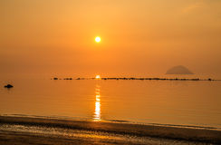 Golden beach sunset Royalty Free Stock Photography