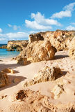 Golden beaches of Albufeira, Portugal Stock Image