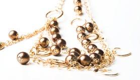 Golden beads Stock Photo