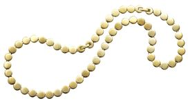 Golden beads. Isolated on white Stock Images