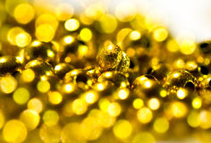 Golden beads background II Royalty Free Stock Image